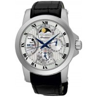 Seiko - Gents Premier, Kinetic, Moonphase, Stainless Steel Chrongraph Watch