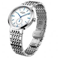 Rotary - Stainless Steel White Dial, Blue Batton Watch
