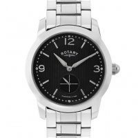 Rotary - Stainless Steel Black Dial Watch