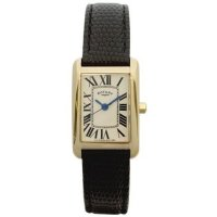 Rotary - Gold Plate Black Strap Watch