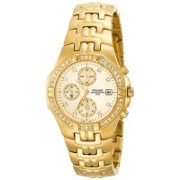 Pulsar - Swarovski Elements Set, Gold Colour, Stainless Steel Watch