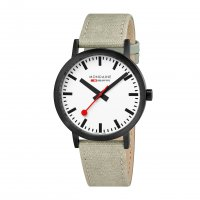 Mondaine - MON SBB, Black IP Plating, Light Brown Strap Watch