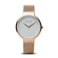 Bering - Max Rene, Ladies Stainless Steel, Rose Gold Plated Interchangeable Strap Watch