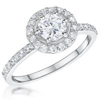Jools - Silver Cubic Zirconia Ring, Size N