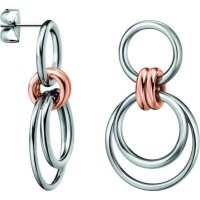 Calvin Klein - Nimble, Stainless Steel and Rose Gold Plated Earrings