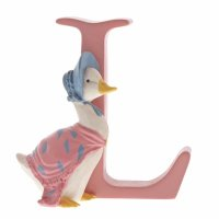 "Enesco - ""L"" Jemima Puddle-Duck, Pottery Letter"