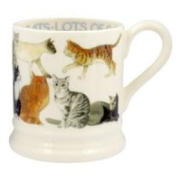 Emma Bridgewater - All Over Cat, Pottery Half Pint Mug