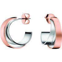 Calvin Klein - Two Tone Stainless Steel Rose Gold, Stud Earrings