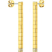Calvin Klein - Tune, Crystals Set, Stainless Steel With Yellow Gold Plating Stud, Drop, Earrings