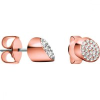 Calvin Klein - Crystals Set, Stainless Steel With Rose Gold Plating Stud, Earrings