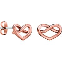 Calvin Klein - Charming, Rose Gold Plated Heart Earrings