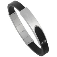 Calvin Klein - Audacious, Men's Stainless Steel and Leather Adjustable Bracelet