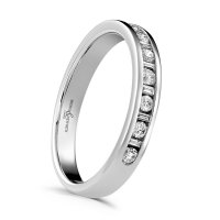 Guest and Philips - Diamond Set, 18ct. White Gold Eternity Ring, Size L