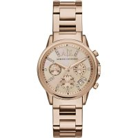 Armani Exchange - Stainless Steel and Rose Gold Plated Chronograph Watch