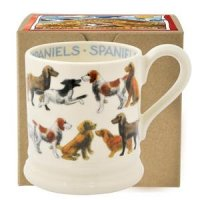 Emma Bridgewater - All Over Spaniel, 1/2 Pint Pottery Mug Boxed