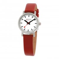 Mondaine - Ladies, Stainless Steel and Red Leather Watch