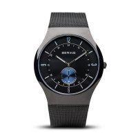 Bering - Men's, Black Ion Plated Steel Watch