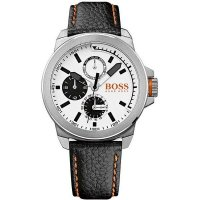 Hugo Boss - Orange Men's, Stainless Steel and Leather Watch