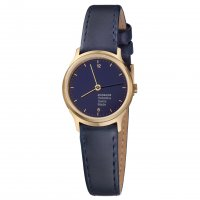 Mondaine - Mondaine, Stainless Steel, Yellow Gold Plated, Leather Watch, Size 26mm