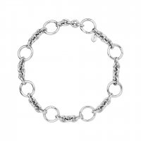 Links of London - Capture, Sterling Silver Charm Bracelet, Size Medium