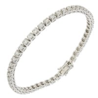 Guest and Philips - Platinum and Diamond Set, Tennis 50 stone 4 claw Bracelet