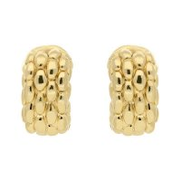 Fope - Luci, Yellow Gold 18ct Braided Hoops Earrings