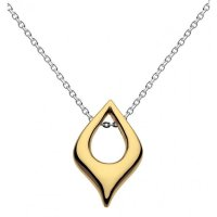 Kit Heath - Tempt, Sterling Silver and 18ct. Yellow Gold Plate Necklace, Size 18""