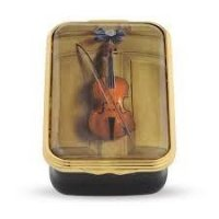 Halcyon Days - Violin, Enamel Pill Box