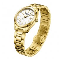 Rotary - Yellow Gold Plated Ladies Bracelet