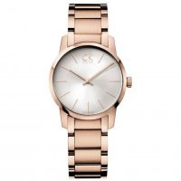 Calvin Klein - Ladies' City , Rose Gold Plated Silver Dial Watch