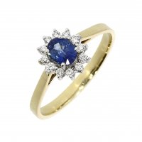 Guest and Philips - 18ct White Gold Sapphire and Diamond Cluster Ring