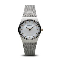 Bering - Ladies Classic, Swarovski Crystal Set, Stainless Steel Ultra Slim Watch