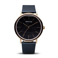Bering - Unisex Stainless Steel With Rose Gold Plating, Milanese Strap Watch