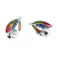 Deakin and Francis - Sterling Silver Fishing Cufflink