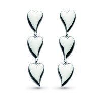 Kit Heath - Desire, Sterling Silver Linking Heart Earrings