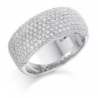 Guest and Philips - Palladium and Diamond Pave Ring  Size O.5