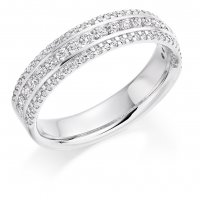 Guest and Philips - Platinum and Diamond Half Eternity Ring Size R.5