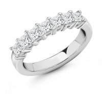 Guest and Philips - Platinum and Diamond 7 Stone Half Eternity Ring