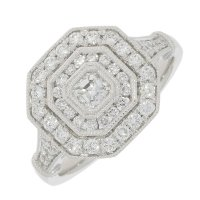 Guest and Philips - Platinum and Diamond Cluster Ring