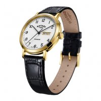 Rotary - Yellow Gold Plated Strap Watch