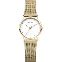 Bering - Classics, Yellow Gold Plated Mesh Watch