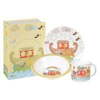 Churchill - Noahs Ark, Melamine 3 Piece Childrens Set