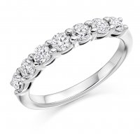 Guest and Philips - Platinum and Diamond Set Half Eternity Ring