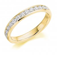 Guest and Philips - 18ct Yellow Gold and Diamond Half Eternity Ring