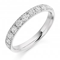 Guest and Philips -Platinum and Diamond Half Eternity Ring Size M