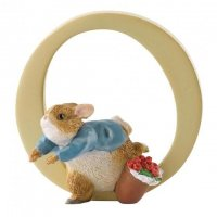 Enesco - Peter Rabbit, Alphabet, Initial O Figurine