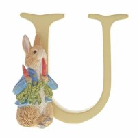 Enesco - Peter Rabbit, Ceramic/Pottery/China Letter U