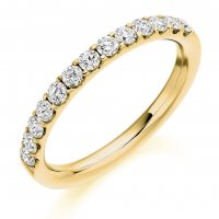 Guest and Philips - 18ct Yellow Gold and Diamond Half Eternity Ring Size O