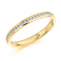 Guest and Philips - 18ct Yellow Gold and Diamond Half Eternity Ring Size M