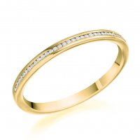 Guest and Philips - 9ct Yellow Gold and Diamond Half Eternity Ring Size M